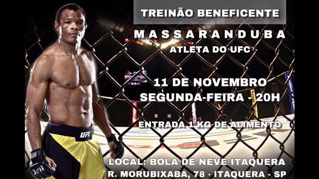 Treinão Beneficente com Massaranduba em São Paulo