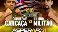Aspera FC 21 terá transmissão ao vivo para todo o Brasil com card explosivo
