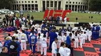 Treino solidário do UFC em São Paulo.